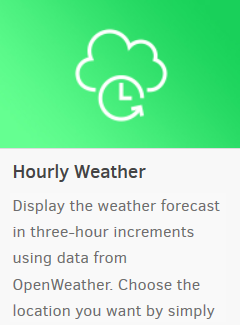 hourly weather widget