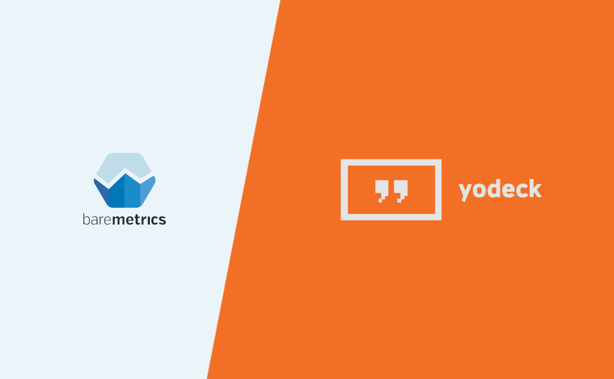 Data dashboards and digital signage: Get Baremetrics on your screens with Yodeck