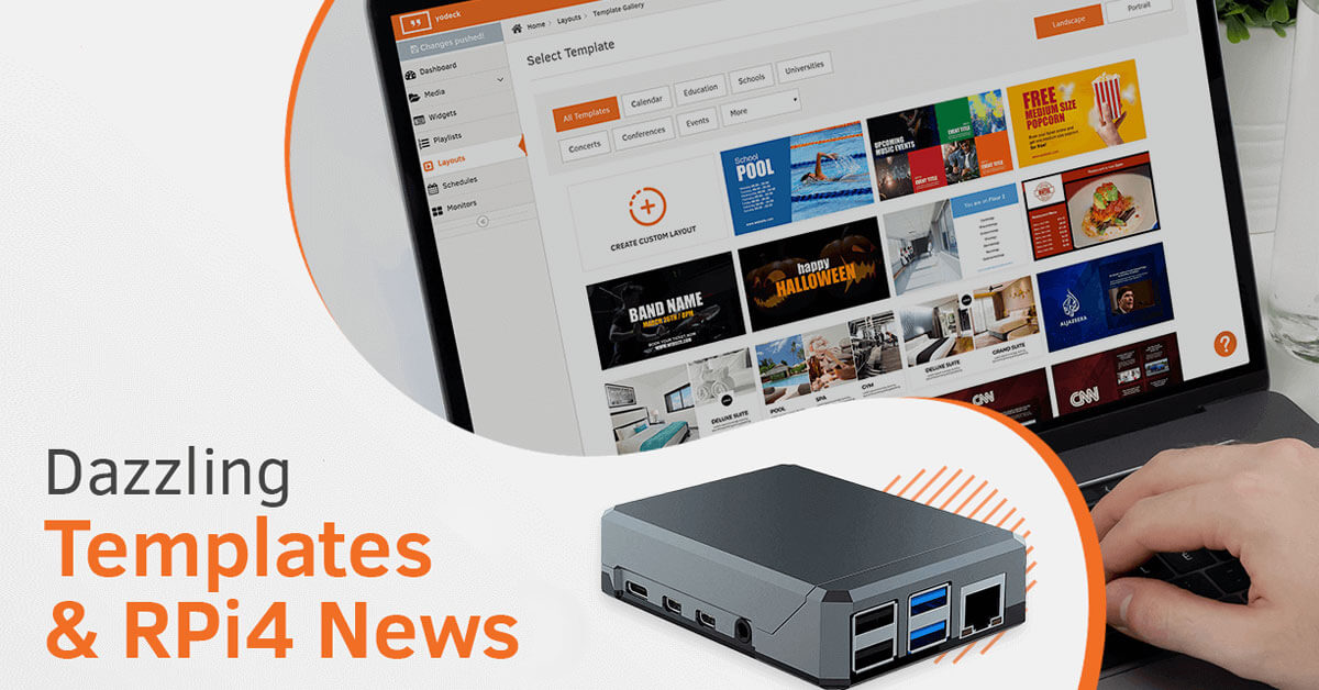 Dazzling Layout Templates & RPi4 News