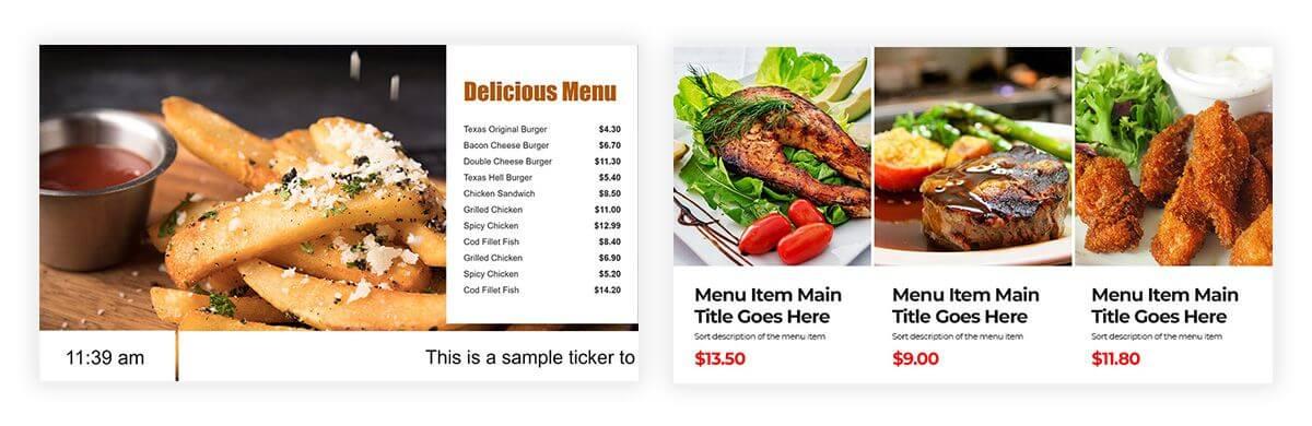 free digital menu board