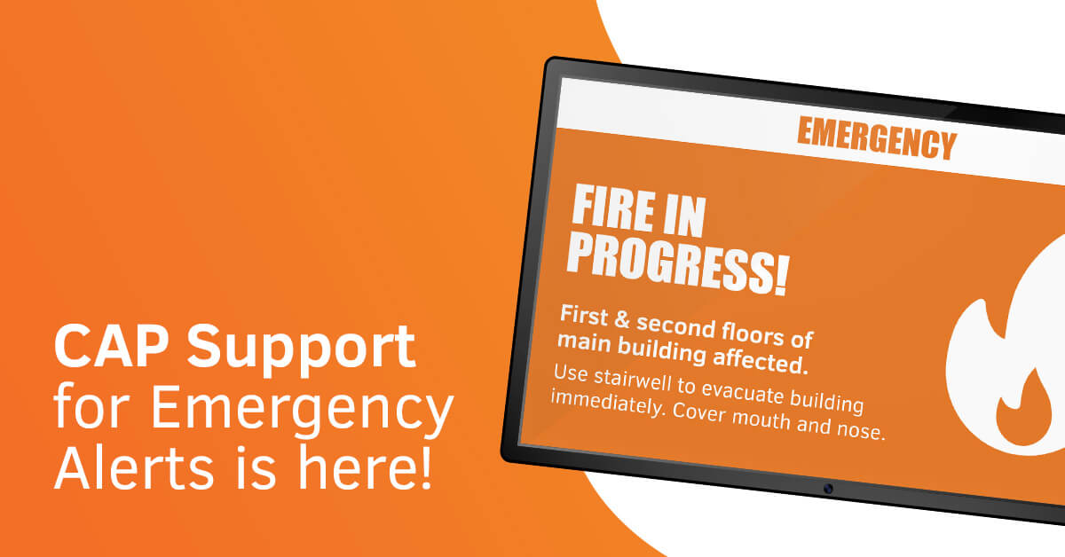 CAP Support for Emergency Alerts Is Here!