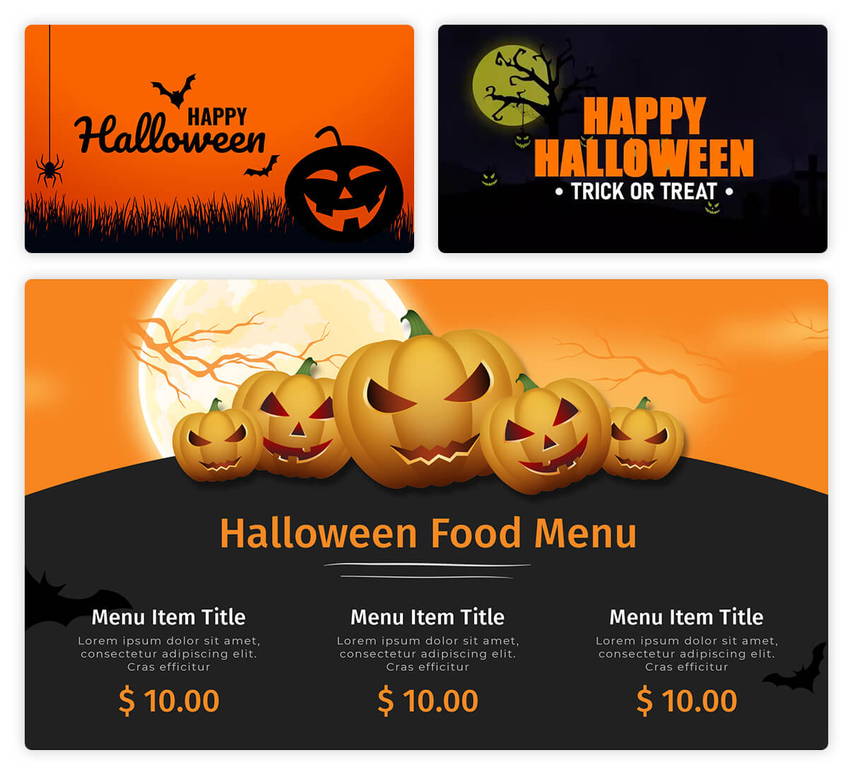 Halloween Signage Template
