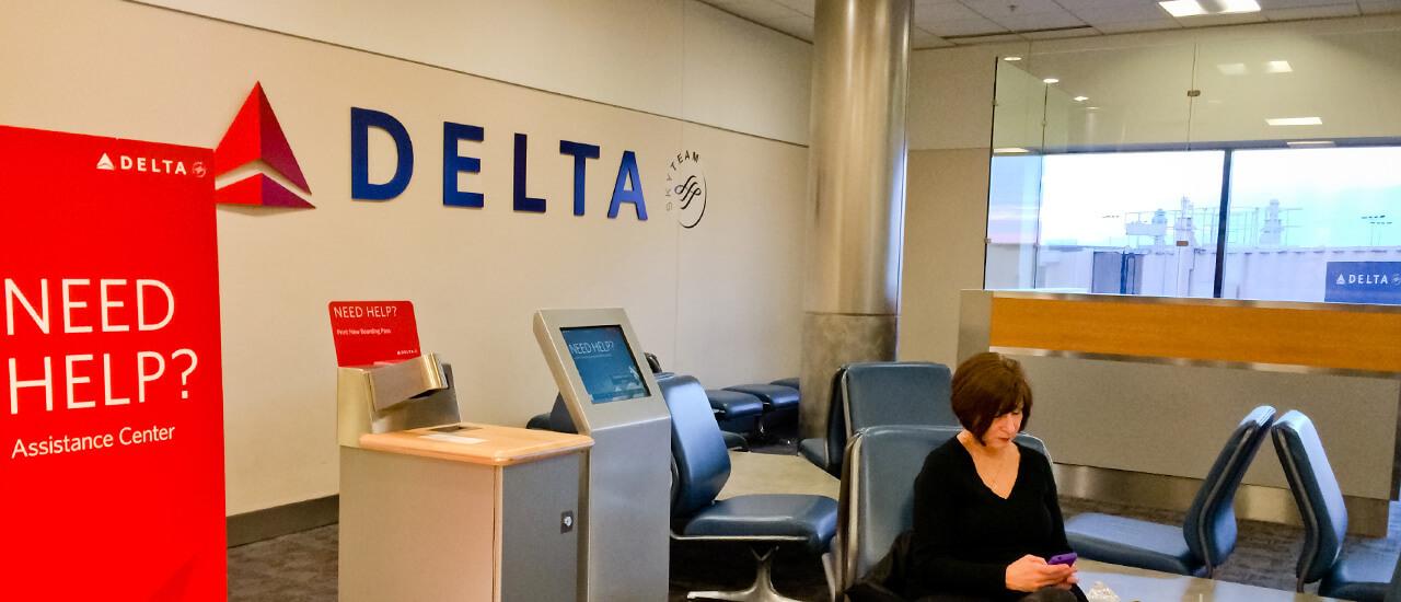 Delta Airlines digital signage