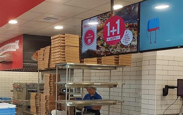 Domino's Pizza menu boards