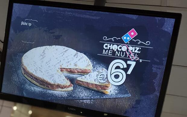 Pizza menu board