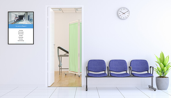 hospital digital signage software