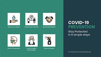 COVID-19 free signage template