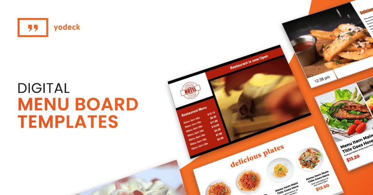 digital menu board templates