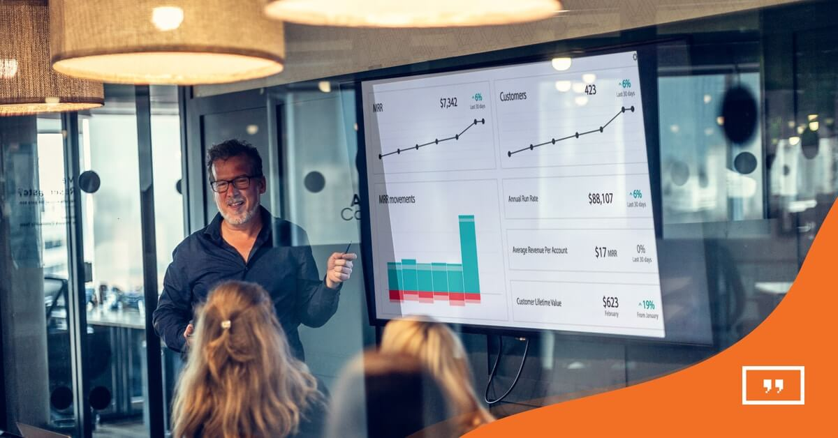 Data dashboards and digital signage: ChartMogul shines with Yodeck